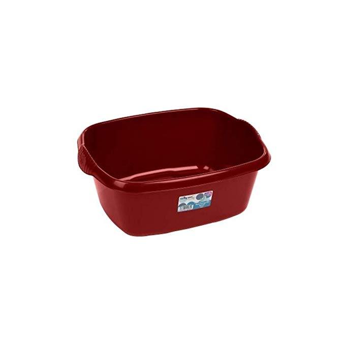 Wham High Grade Rectangular Washing Up Bowl Basin Kitchen Mixing (Chilli Red) by Wham