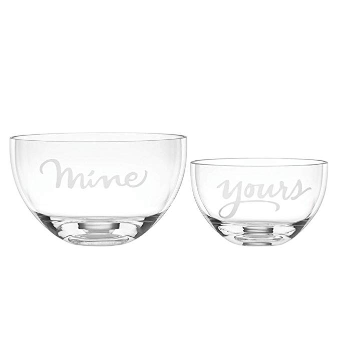 Two of a kind mine & yours BOWLS S/2, Clear