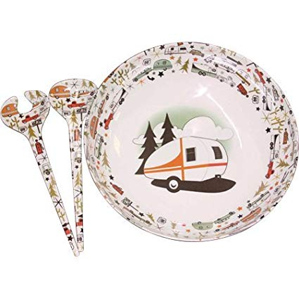 Camp Casual CC-003 RV Camping Outdoor Dinnerware Serving Bowl and Servers