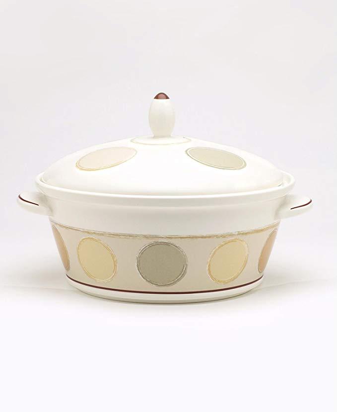Noritake Mocha Java 67-Ounce Covered Vegetable Bowl