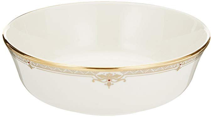 Lenox Republic Gold Banded Ivory China All Purpose Bowl