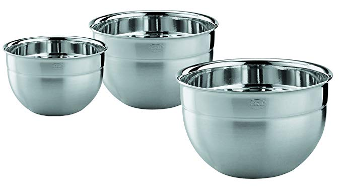 Rosle 15700 3pc Bowl Set, Medium, Silver