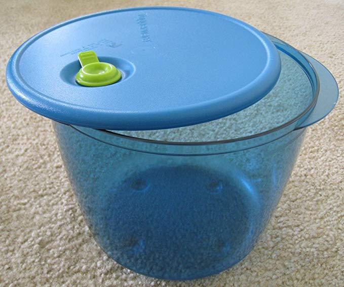 Tupperware Vent N Serve 3.5 Qt Mega Deep Bowl New Aqua