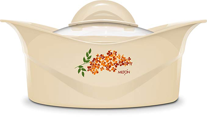 Milton Regalia Glass Lid Insulated Casserole with Stainless Steel Liner, Keeps Food Hot or Cold For 6 Hours, 3 Liter