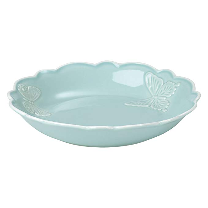 Lenox Butterfly Meadow Carved Blue Pasta Bowl