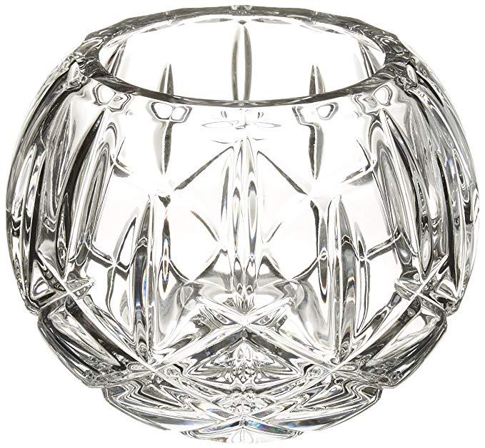 Lenox Gorham Lady Anne Crystal Rose Bowl, 7