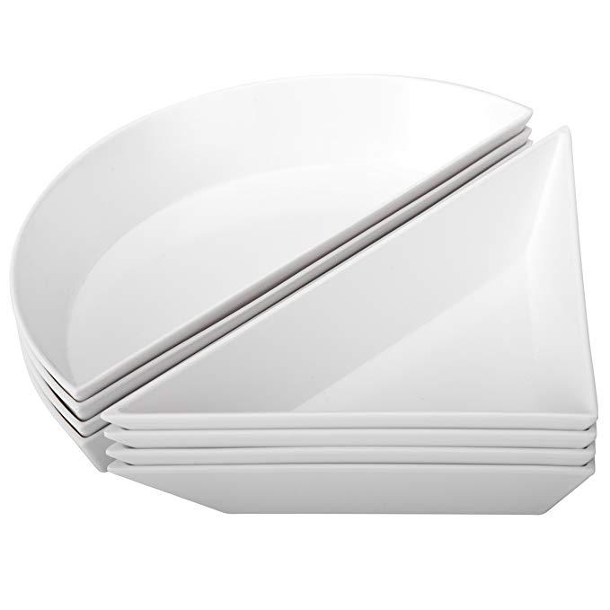 Zak Designs Emeril 8-Piece Geo Table Art, White