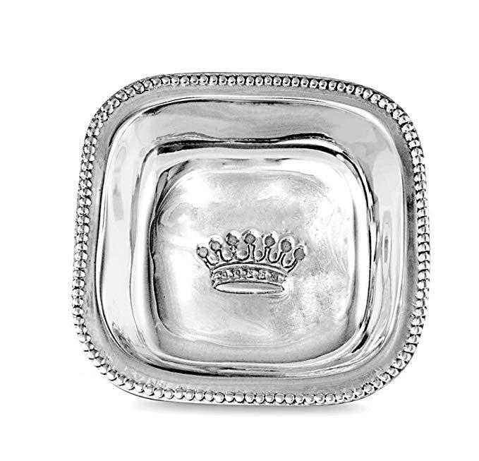 Beatriz Ball 6657 VENEZIANA Crown Bowl, Small, Silver
