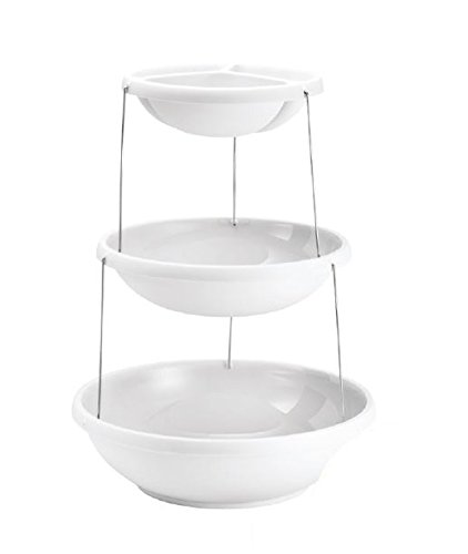 Fozzils Twistfold Party Bowls (3 Tiers), White
