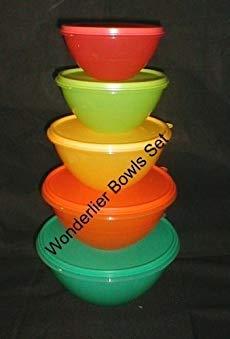 Tupperware Wonderlier 5 Pc Summer Colors