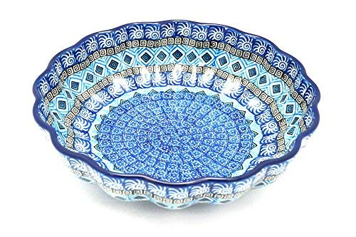 Polish Pottery Bowl - Shallow Scalloped Bowl (9