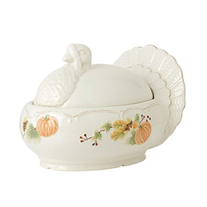 Pfaltzgraff Plymouth Turkey-Shaped Covered Serving Dish, 2-1/2-Quart