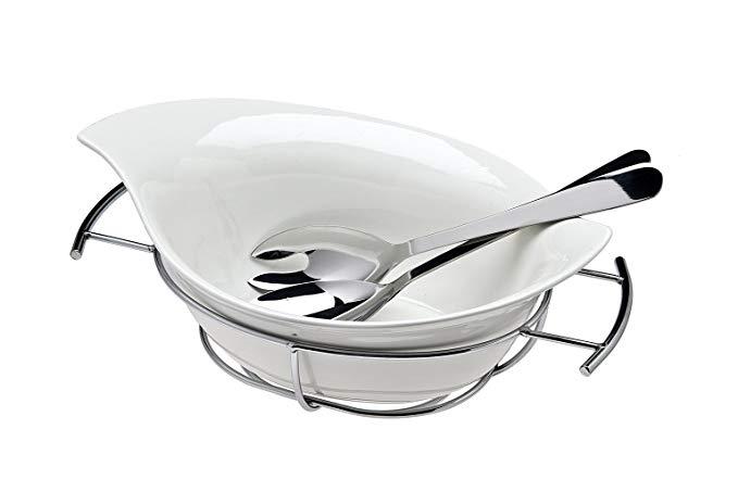 Godinger Natura Salad Bowl with Servers