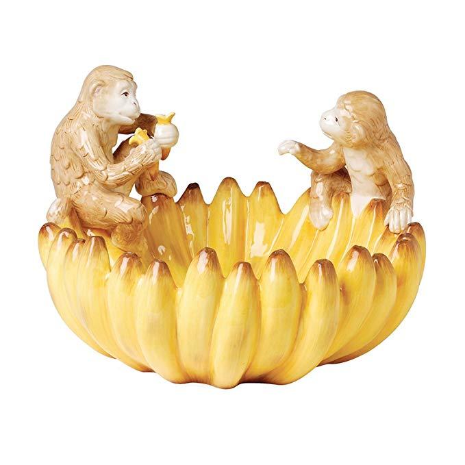 Zanzibar Monkey Banana Serving Bowl