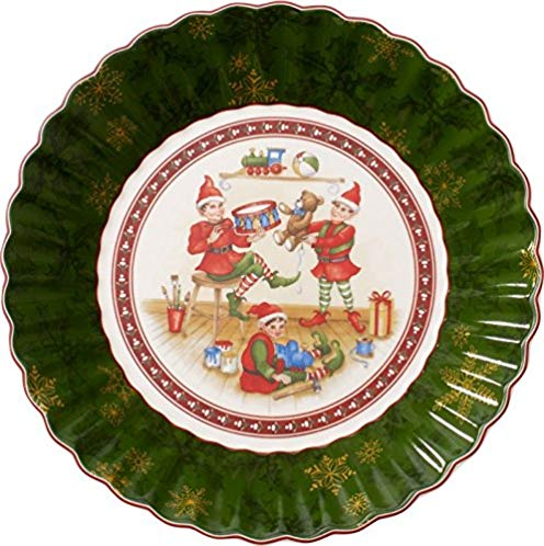 Toy's Fantasy Bunte Teller Elves Serving Bowl by Villeroy & Boch - Perfect for Christmas Gift or Entertaining - Premium Porcelain - Dishwasher and Microwave Safe - Gift Boxed - 10 Inches