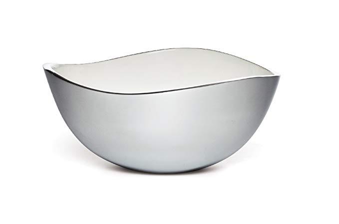 Savora Dimple Aluminum and Enamel Bowl, 10-Inch, Snow