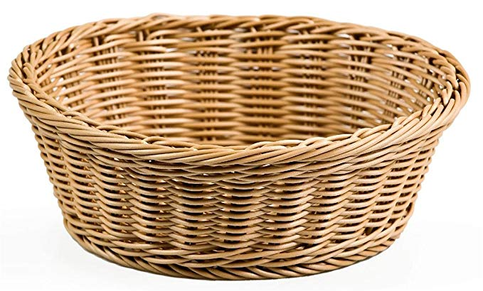 Round Woven Baskets for Serving Food, 9-3/8