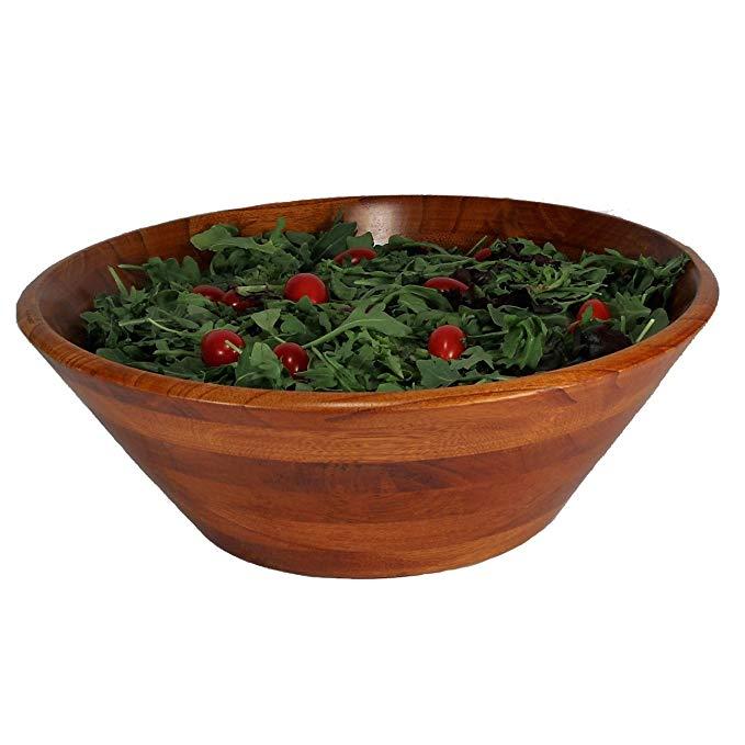 Woodard & Charles Wood Salad Bowl, 14-Inch, Walnut
