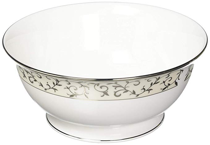 Lenox Opal Innocence Silver Serving Bowl