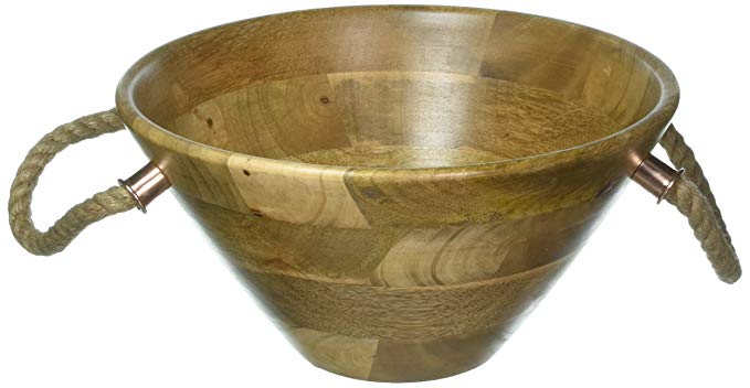 Thirstystone N356 Mango Wood Wooden Salad Bowl, One Size, Brown